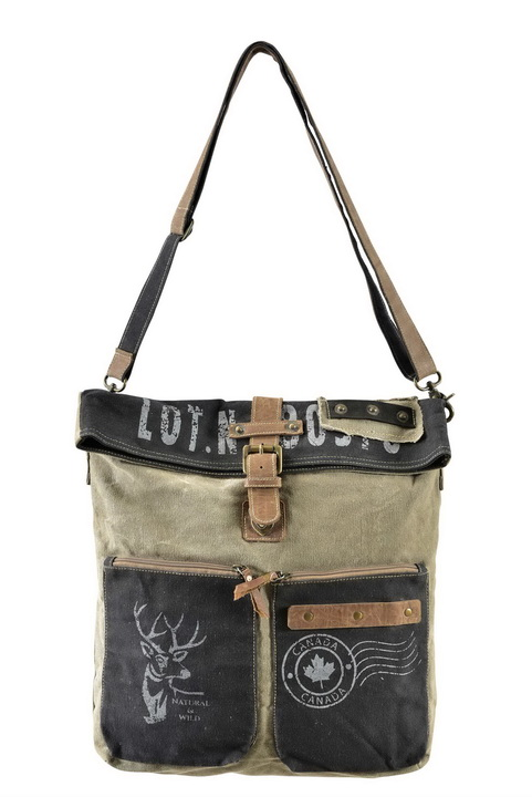 Vintage Army Look Long Sling Bag