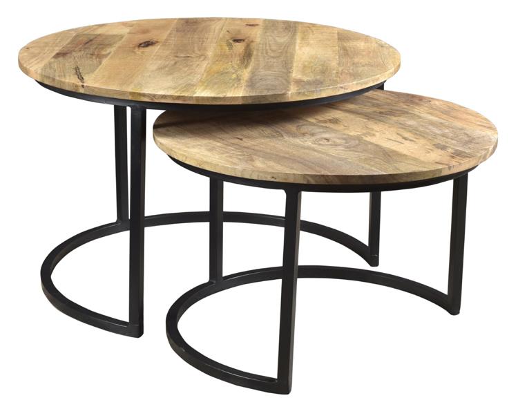 Mango Wood Round Coffee Table