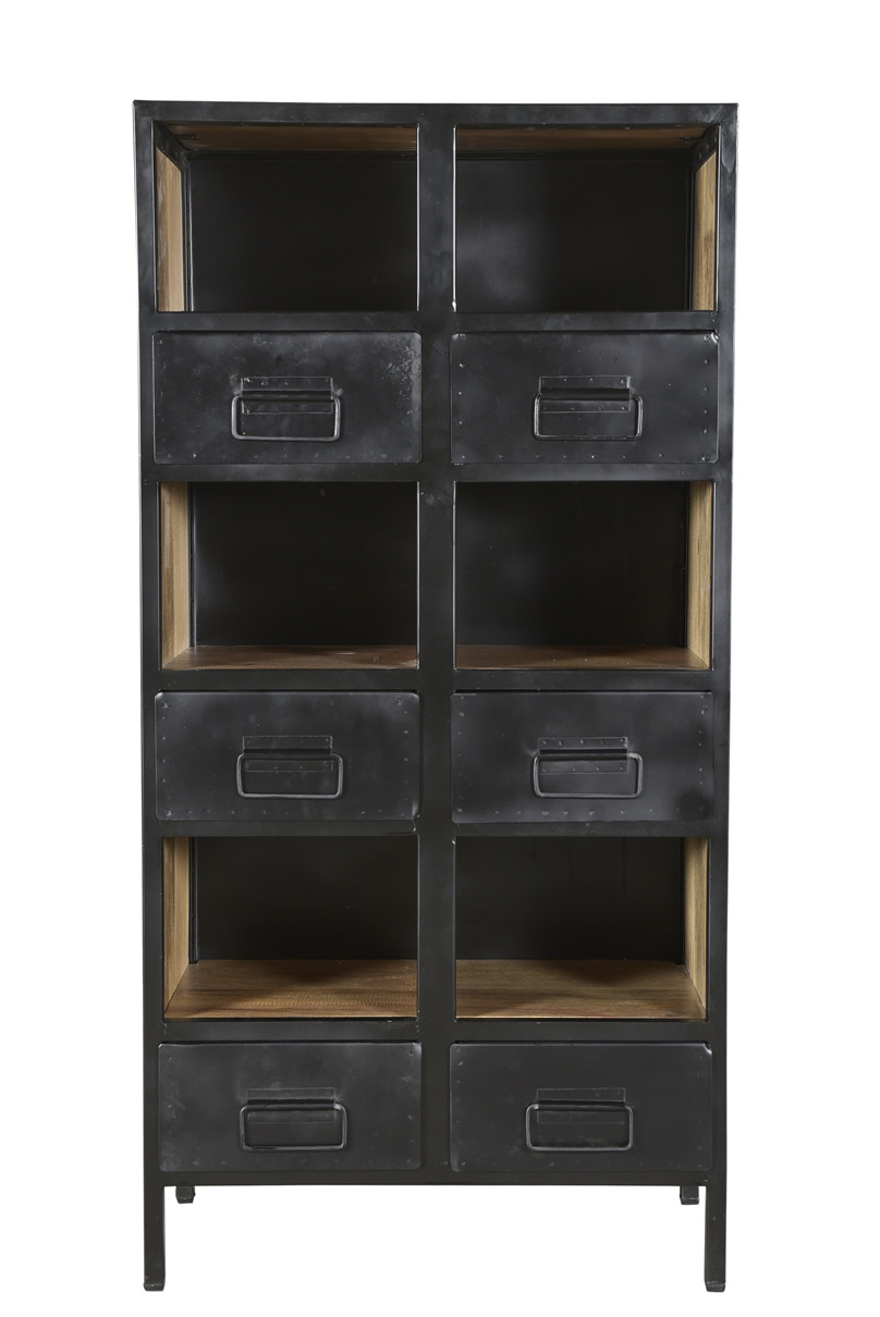 Industrial Iron wooden bookshelf