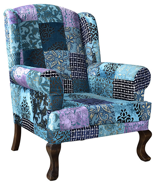 Indian Velvet Upholstered Sofa Living Room Furniture European Style Armchair