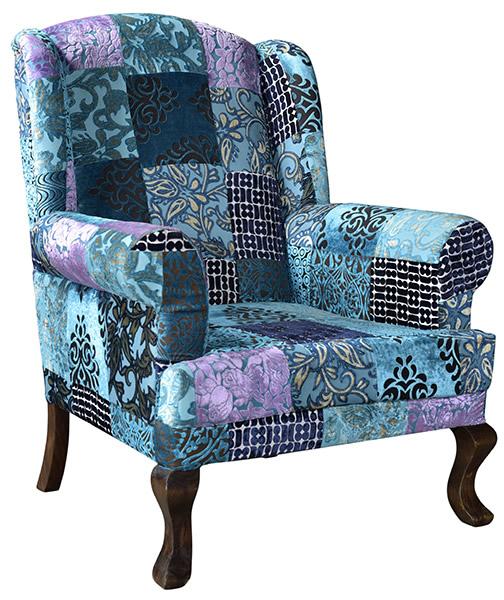 Indian Velvet Upholstered Sofa Living Room Furniture European Style Armchair