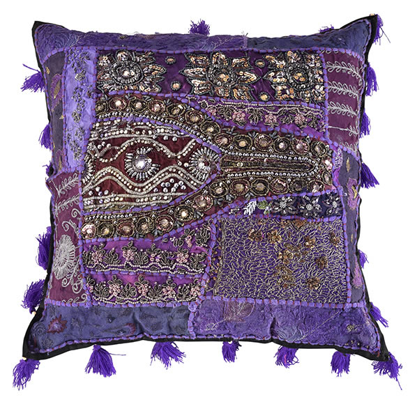 Khambariya Embroidery Cushion Cover