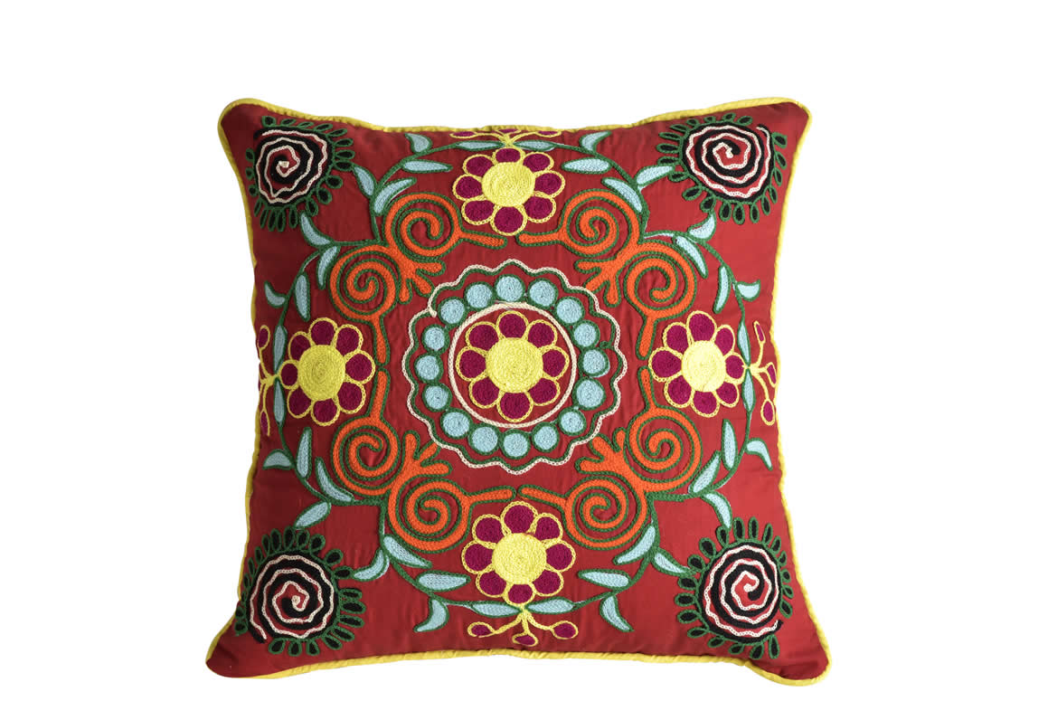 Cotton Embroidery Designs Cushion Cover